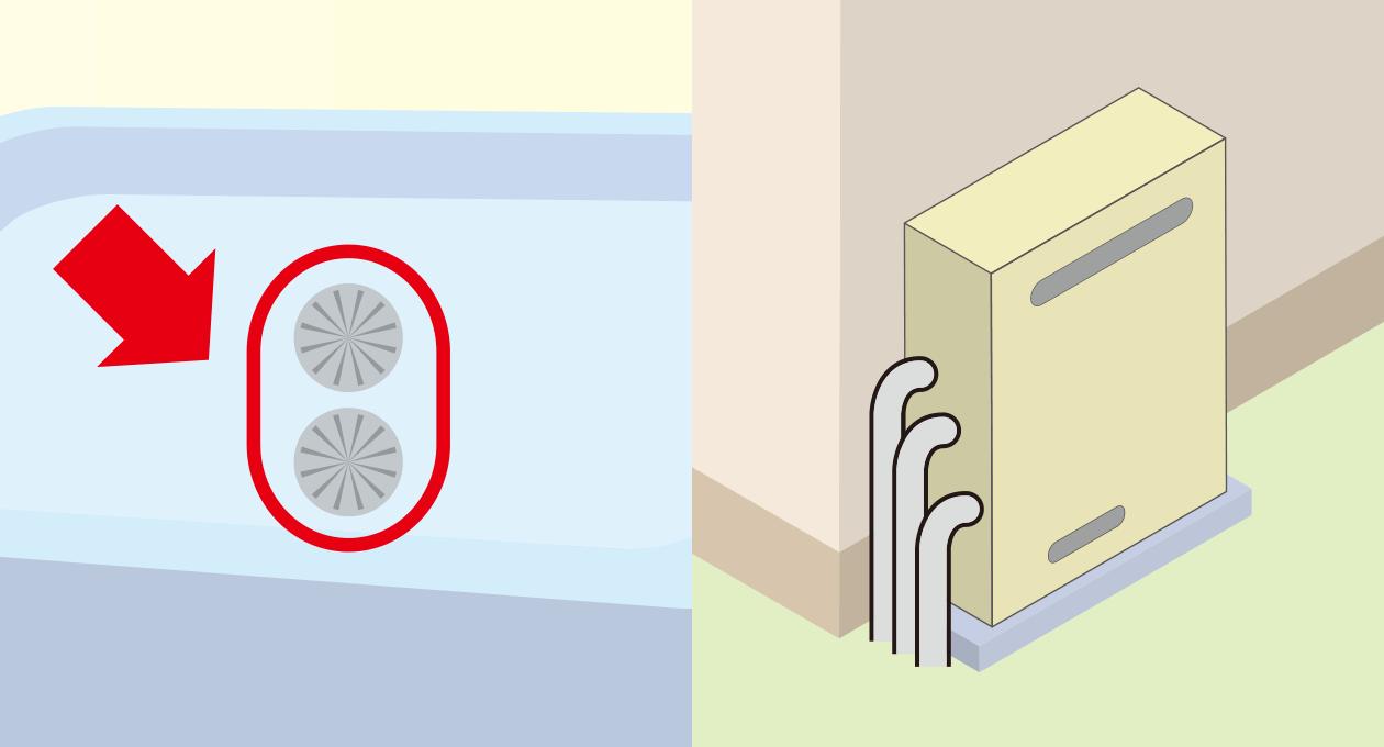 写真:屋外据置浴槽1つ穴